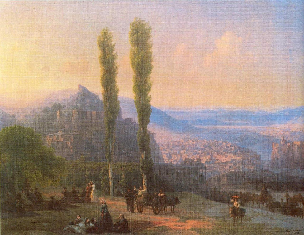 Айвазовский картина 1869г 'Вид Тифлиса'.  Ставрополь.