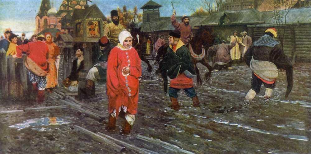 Московская улица xvii века в